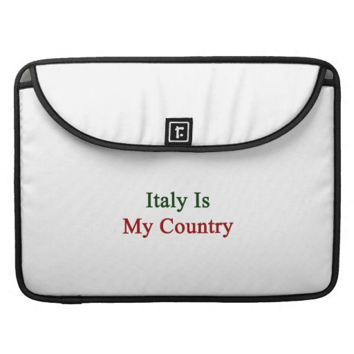 Italy Is My Country Sleeve For MacBooks