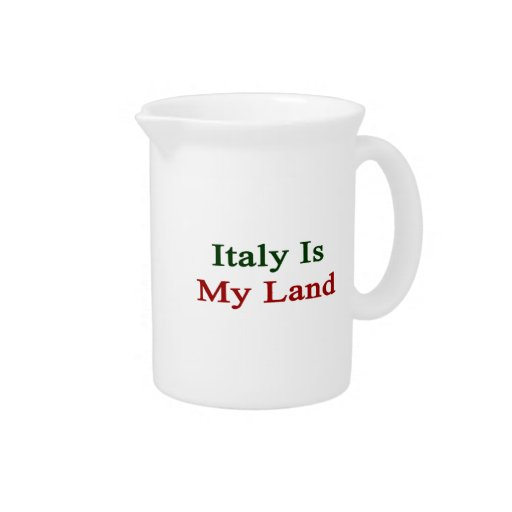 Italy Is My Land Pitchers