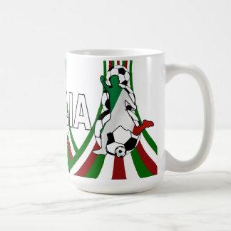 Italy italia, calico football soccer coffee mug