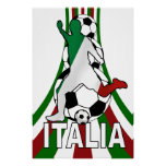 Italy italia, calico football soccer posters poster