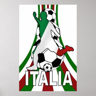 Italy italia, calico football soccer posters