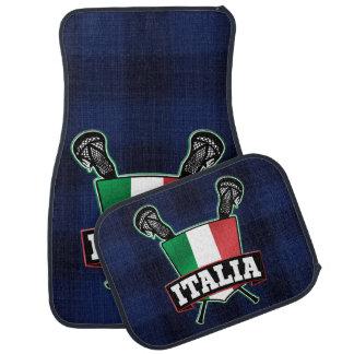 Italy Italia Flag Lacrosse Logo Car Mat