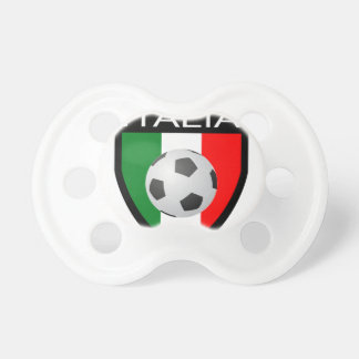 Italy / Italia Flag Patch - with soccer ball Pacifier