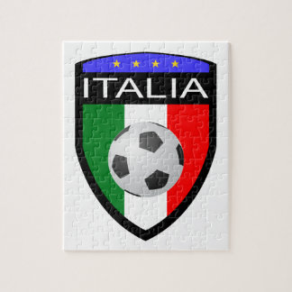 Italy / Italia Flag Patch - with soccer ball Jigsaw Puzzles
