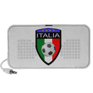 Italy / Italia Flag Patch - with soccer ball Notebook Speakers