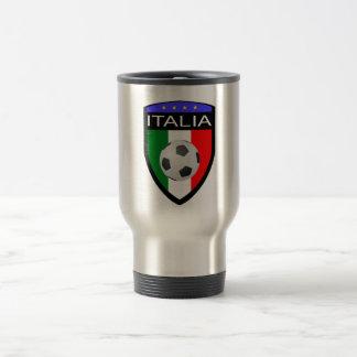 Italy / Italia Flag Patch - with soccer ball Travel Mug