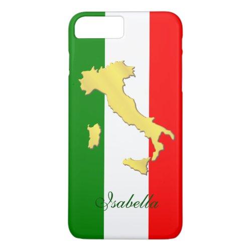 Italy Italia Italian Flag Gold Country Name Phone Case