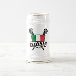 Italy Italia Lacrosse Beer Stein