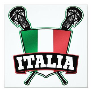 Italy Italia Lacrosse Card