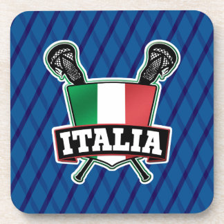 Italy Italia Lacrosse Drinks Coasters