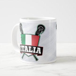 Italy Italia Lacrosse Flag Cup 20 Oz Large Ceramic Coffee Mug
