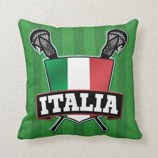 Italy Italia Lacrosse Throw Pillow
