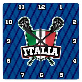 Italy Italia Lacrosse Square Clock