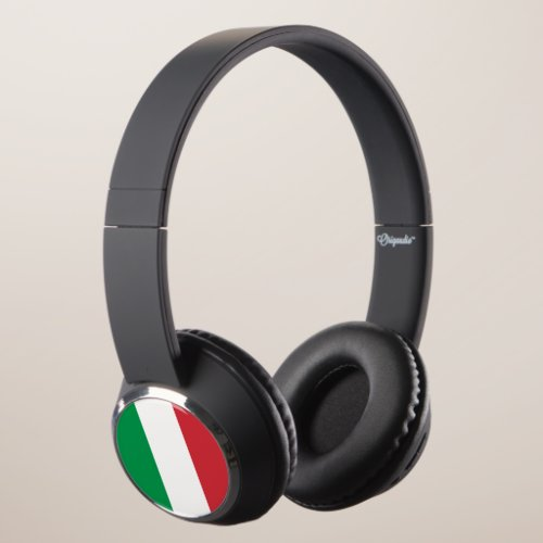 Italy - Italian Flag Bluetooth Headphones. Headphones