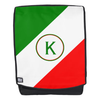 Italy Italian Flag Design with your Initials Backpack