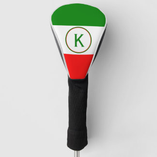 Italy Italian Flag Design with your Initials Golf Head Cover