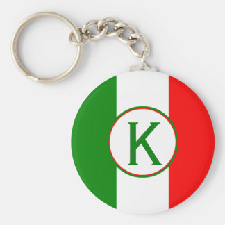 Italy Italian Flag Design with your Initials Keychain