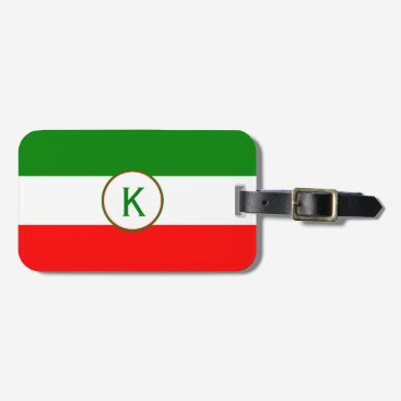ItalianDesignMylini Italy Italian Flag Design with your Initials Luggage Tag