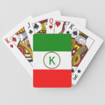 """Italy Italian Flag Design with your Initials Playing Cards<br><div class=""""desc"""">Anyone who has been in Italy for some time will have noticed that the Italians really enjoy their dolce vita. Italians attach great importance to their leisure time, their family, friends, neighbors and good food. They are proud of their country and appreciate the beauty and the good. Classy italy flag...</div>"""