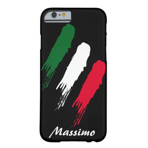 Italy Italian Flag Design with your Name Phone Case