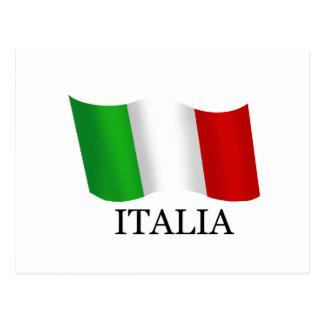 Italy Italian flag of Italy Italia Postcard