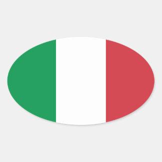 Italy/Italian Flag Oval Sticker