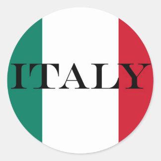 Italy Italian flag Round Sticker