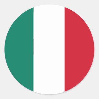 Italy Italian flag Round Stickers