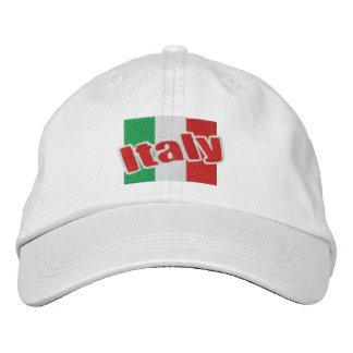 Italy Italian Flag With Text Baseball Cap
