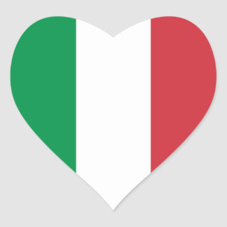 Italy/Italian Heart Flag Heart Sticker