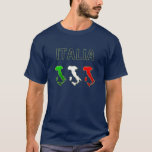 Italy Italian Italia Boot flag map of Italy T-Shirt