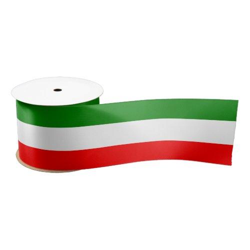 "Italy Italian Italia Flag Tricolore Design 3"" Satin Ribbon"