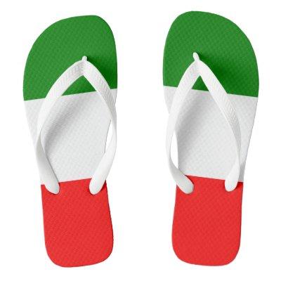 fcb4b493dd6ec Personalized Damask Italian Flag Flip Flops