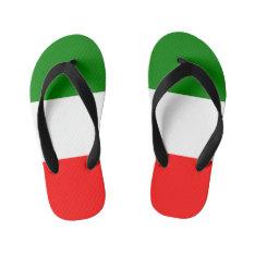 Italy Italian Italia Flag Tricolore Design Kid's Flip Flops at Zazzle