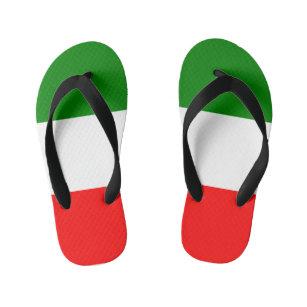 ad5fdae42f0e12 Italy Italian Italia Flag Tricolore Design Kid s Flip Flops