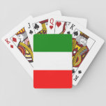 "Italy Italian Italia Flag Tricolore Design Playing Cards<br><div class=""desc"">Anyone who has been in Italy for some time will have noticed that the Italians really enjoy their dolce vita. Italians attach great importance to their leisure time, their family, friends, neighbors and good food. They are proud of their country and appreciate the beauty and the good. Classy italy flag...</div>"