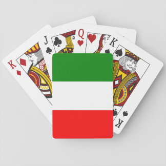 Italy Italian Italia Flag Tricolore Design Playing Cards