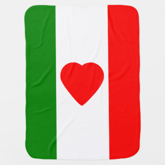 Italy Italian Italia Flag Tricolore Design Receiving Blanket