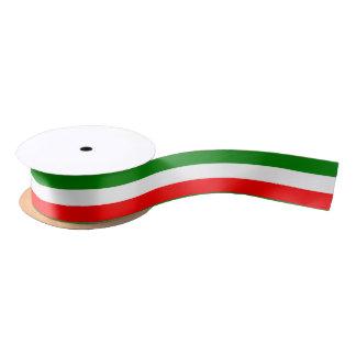 Italy Italian Italia Flag Tricolore Design Satin Ribbon