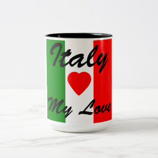 Italy Italian Italia Flag Tricolore Design Two-Tone Coffee Mug