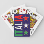 """Italy Italian Italia Flag Tricolore Stars Design Playing Cards<br><div class=""""desc"""">Classy italy flag design with the typical green,  red colors backround.  Please contact me if you need help or matching items.</div>"""
