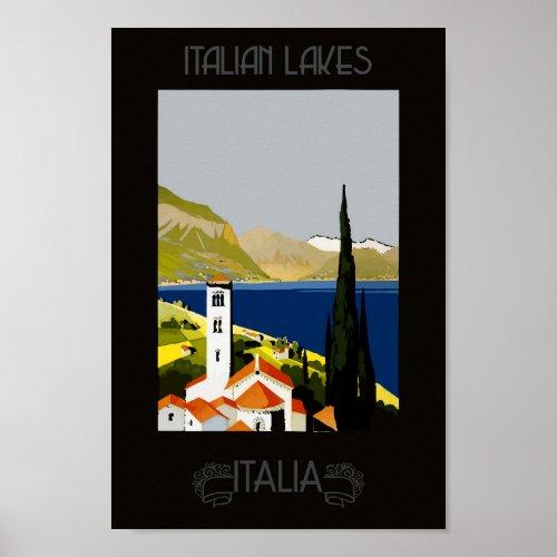 Italy Italian Lake Retro Vintage Travel