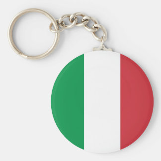 Italy – Italian National Flag Basic Round Button Keychain