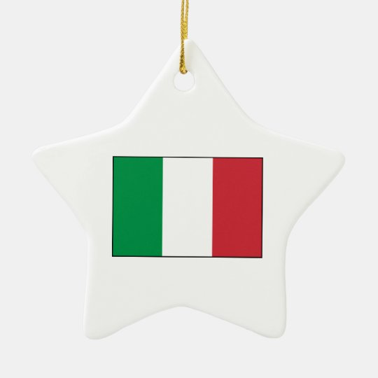 Italy – Italian National Flag Ceramic Ornament