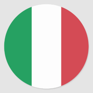 Italy – Italian National Flag Classic Round Sticker