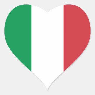Italy – Italian National Flag Heart Sticker