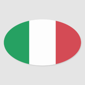 Italy – Italian National Flag Oval Sticker