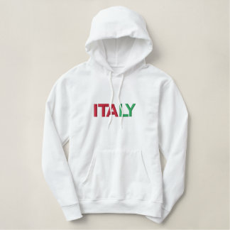 ITALY Italian National Pride Patriotic Embroidered Hoodie