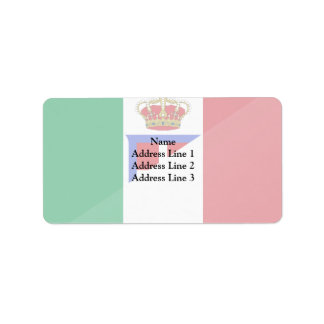 Italy, Italy flag Personalized Address Label