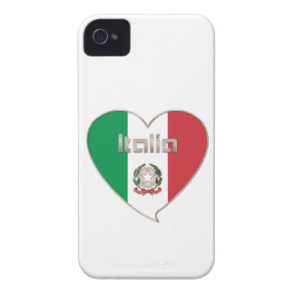 Italy ITALY Souvenir NATIONAL FLAG in heart iPhone 4 Covers